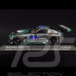 Mercedes-Benz AMG GT3 n° 3 Team Black Falcon 24h Dubai 2016 1/43 Minichamps 437163003