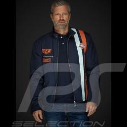 Gulf Jacke Steve Mc Queen Le Mans Roadmaster Baumwolle Blau - Herren