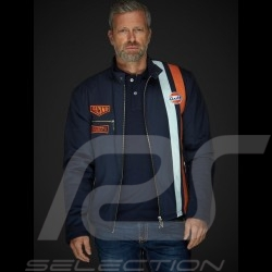 Jacket Gulf Steve Mc Queen Le Mans Roadmaster Cotton Blue - men