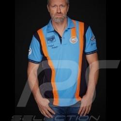 Polo Gulf Steve McQueen Le Mans bleu cobalt blue blau homme men herren