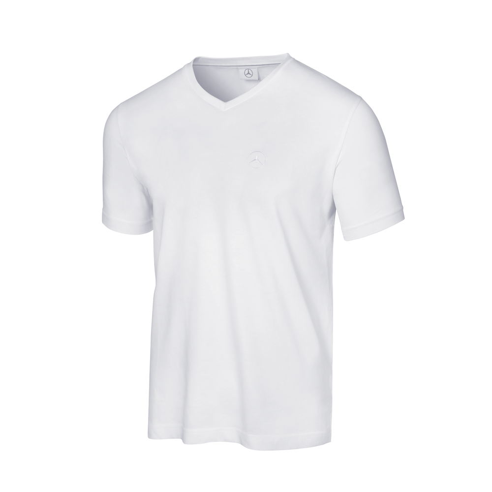 Mercedes T Shirt V Neck White Mercedes Benz B66958723 Men Selection Rs