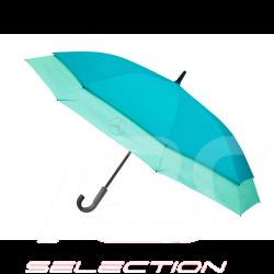 Parapluie umbrella stockschirm Mercedes stretch grande taille polyester large size groß bleu et menthe blau und mint Mercedes-Be