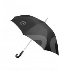 Parapluie umbrella stockschirm Mercedes poignée courbée curved handle gebogener griff polyester noir black schwarz Mercedes-Benz