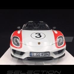 Porsche 918 Spyder Salzburg weiß roten Streifen 1/18 Minichamps 110062441