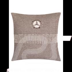 Coussin striped pillow gestreiftes kissen Mercedes rayé logo vintage coton cotton brown marron baumwolle braune Mercedes-Benz B6