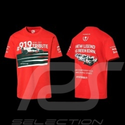 T-shirt Porsche 919 Tribute 2014-2017 Rouge Red Rot  WAP852J - mixte unisex
