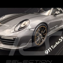 Porsche 911 Turbo S Exclusive Series 991 2017 Achatgrau 1/18 Spark WAP0219020H