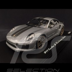 Porsche 911 Turbo S Exclusive Series 991 2017 gris quartz 1/18 Spark WAP0219020H agate grey Achatgrau