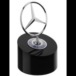 Presse-papier paperweight briefbeschwerer Mercedes logo étoile socle noir star logo black base stern logo schwarze basis Mercede