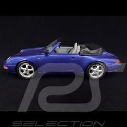 Porsche 911 type 993 Carrera Cabriolet 1994 blue 1/18 Burago 3090