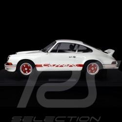 Porsche 911 Carrera RS 2.7 Lightweight 1972 Blanc White Weiß / Rouge Red Rot 1/8 Minichamps 800653005