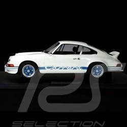 Porsche 911 Carrera RS 2.7 Lightweight 1972 Blanc White Weiß / BleuBlue Blau 1/8 Minichamps 800653007