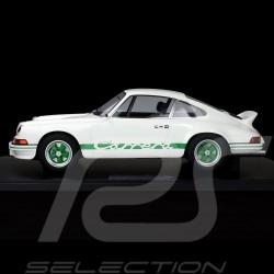 Porsche 911 Carrera RS 2.7 Lightweight 1972 Blanc White Weiß / Vert Green Grün 1/8 Minichamps 800653008
