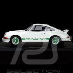 Porsche 911 Carrera RS 2.7 Lightweight 1972 White / Green 1/8 Minichamps 800653008
