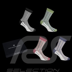 4 pairs 911 Pepita Socks Recaro Heritage 1963 -1973 Boxset - Unisex