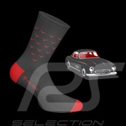 300 SL Gullwing Socken Grau / rot - Unisex