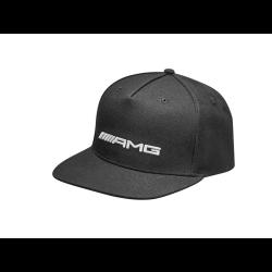 Casquette Mercedes AMG man cap flat visor polyacrylic black homme visière plate polyacrylique noire herren kappe flatbrim polyac