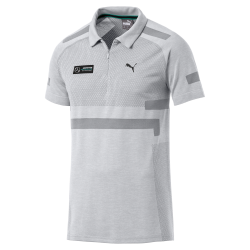 Mercedes Polo shirt AMG Motorsport Puma evoKnit Grey Mercedes-Benz B67996271 - men