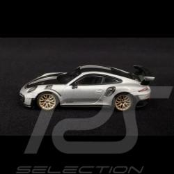Porsche 911 type 991 GT2 RS ph II 2018 argent GT 1/64 Truescale MGT00063-L
