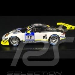 Porsche 911 typ 991 GT3 R n° 911 Manthey racing 24h Nürburgring 2016 1/18 Spark 18SG016