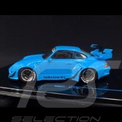 Porsche 911 type 993 RWB Rauh-Welt bleu 1/43 Ixo MOC211