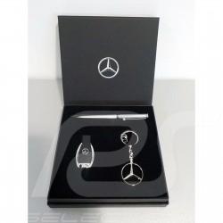 Coffret cadeau gift box geschenkbox Mercedes clé USB stick / stylo pen stift / port-clés key chain schlüsselanhänger Mercedes-Be