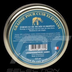 Graisse pour cuir Eléphant Leather care Lederfett Colourlock Boîte 125 ml