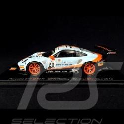 Porsche 911 type 991 GT3 R Sieger 24H Spa 2019 n° 20 Gulf GPX Racing 1/43 Spark SB251