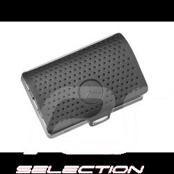 Porte-cartes de crédit Mercedes Credit card holder leather steel black  I-CLIP cuir acier noir kreditkarteninhaber leder schwarz