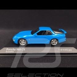 Porsche 968 CS 1993 Riviera blue 1/43 Minichamps 400062320