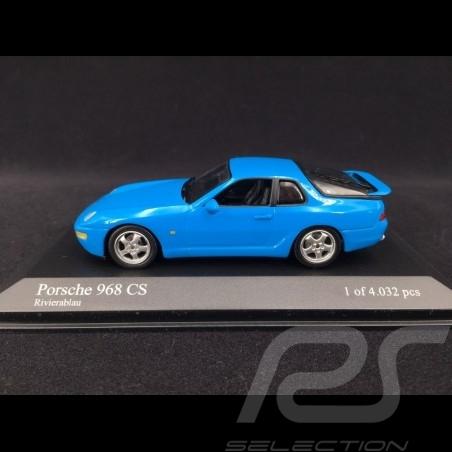 Porsche 968 CS 1993 1/43 Minichamps 400062320 bleu Riviera blue blau