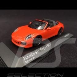 Porsche 911 type 991 Targa 4 GTS phase II 2016 lava orange 1/43 Minichamps 410067341