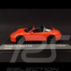 Porsche 911 type 991 Targa 4 GTS phase II 2016 orange fusion 1/43 Minichamps 410067341