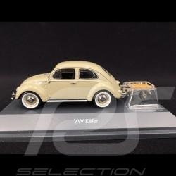 Volkswagen Beetle with trailer 1951 Beige 1/43 Schuco 450269200
