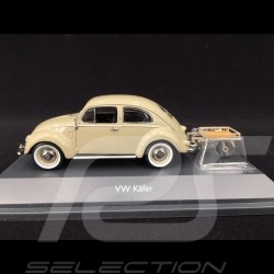 Volkswagen Coccinnelle Beetle Käfer avec remorque trailer Auto Porter 1951 Beige 1/43 Schuco 450269200