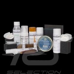 Fulll Leather repair kit Colourlock Mild cleaner Black dye and filler