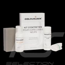Kit d'entretien pour cuir neuf Colourlock Nettoyant doux et Imperméabilisant New leather cleaning and conditioning kit Neuleder
