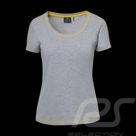 T-shirt Porsche GT4 Clubsport WAP341LCLS gris / jaune grey / yellow / grau / gelb femme women damen