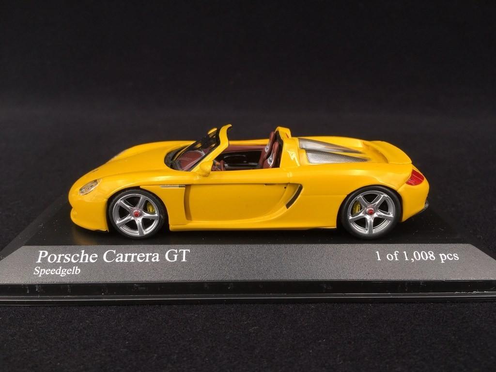 Porsche Carrera Gt 2003 Speed Yellow 1 43 Minichamps 400062634 Selection Rs