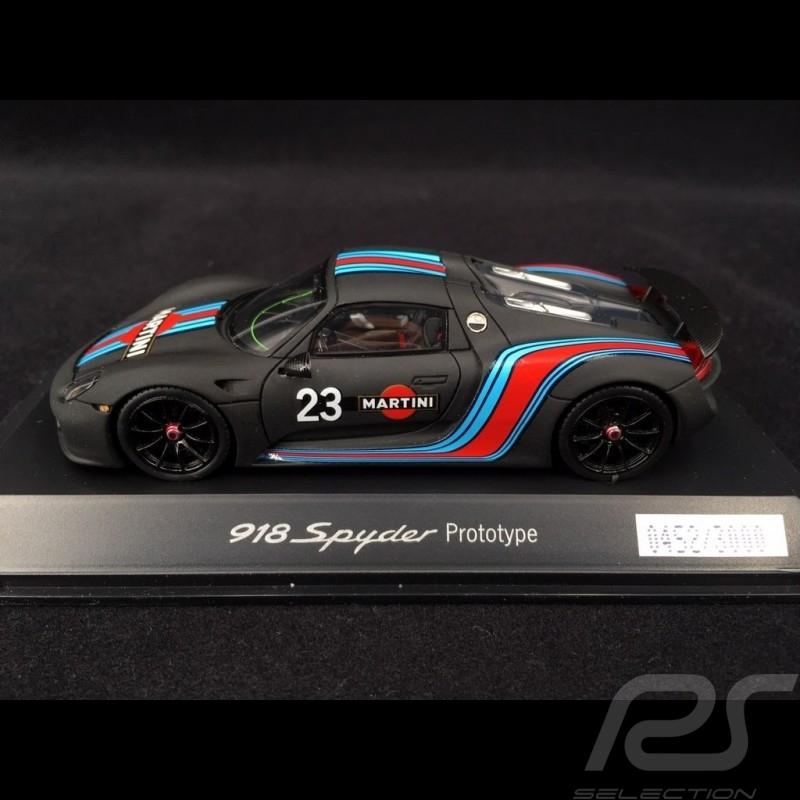 Porsche 918 Spyder Martini Prototype n° 23  black 1/43 Spark WAP0201070E