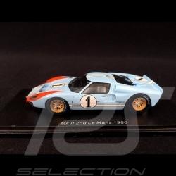 Ford GT40 Mk II n° 1 24h Le Mans 1966 Ken Miles 1/43 Spark S4075
