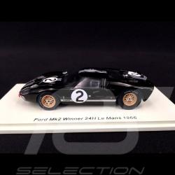 Ford GT40 Mk II n° 2 Vainqueur Winner Sieger Le Mans 1966 1/43 Spark 43LM66