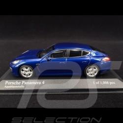 Porsche Panamera 4 2011 bleu aquatique 1/43 Minichamps 400068220
