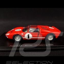 Ford GT40 X-1 Roadster n° 1 vainqueur winner sieger 12h Sebring 1966 Ken Miles 1/43 Spark 43SE66
