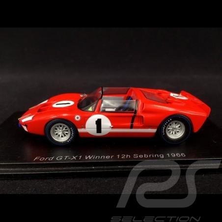 Ford GT40 X-1 Roadster n° 1 Sieger 12h Sebring 1966 Ken Miles 1/43 Spark 43SE66
