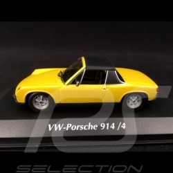 Porsche 914 /4 1972 chrome yellow 1/43 Minichamps 940065661