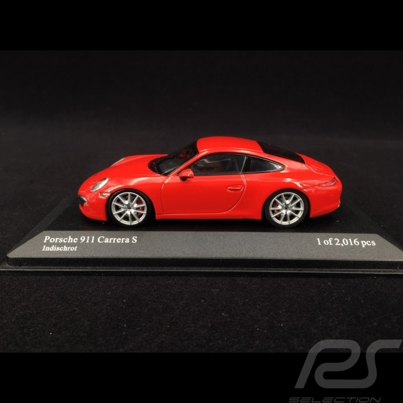 Porsche 911 type 991 Carrera S 2012 guards red 1/43 Minichamps 410060220