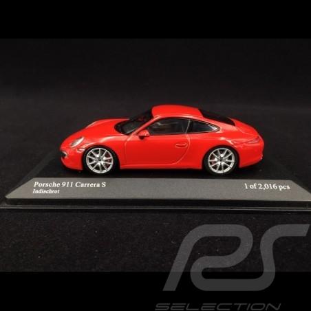 Porsche 911 type 991 Carrera S 2012 guards red 1/43 Minichamps 410060220
