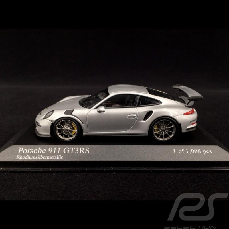 Porsche 991 GT3 RS 2014 argent silver silber 1/43 Minichamps 410063220