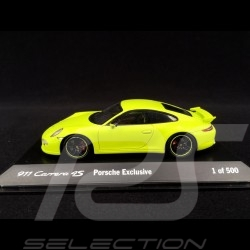 Porsche 911 991 Carrera 4S Exclusive 2014 vert lumière light green leuchtend grün 1/43 Spark MAP02021115
